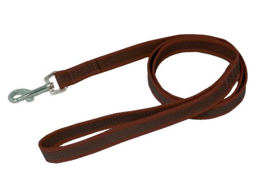 Hundeleine, Soft grip, 1,2m x 20mm (Braun), Nylon gummiert, für kleine, mittlere und grosse Hunde