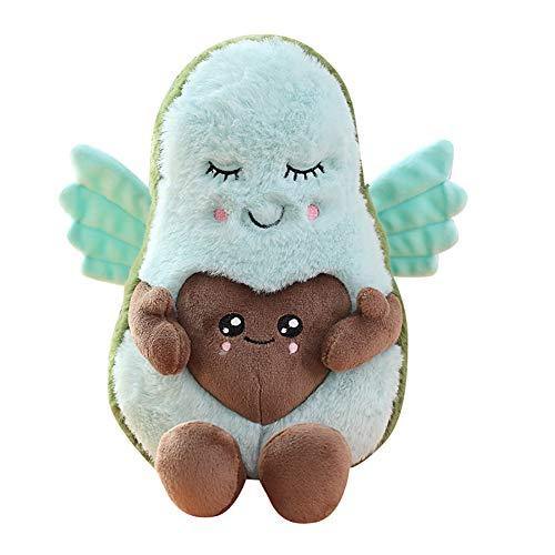 GIRISR Nette Avocado Plüsch 20CM Komfort Lebensmittel Kissen Spielzeug Weiche Frucht Gefüllte Kissen Squeeze Toy Dekoration,Mom