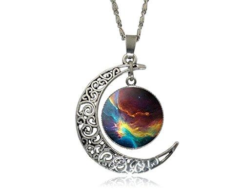 cargomixrcargomixr-einzigartige-entwurfs-crescent-moon-galaxy-universe-glascabochon-anhanger-halsket