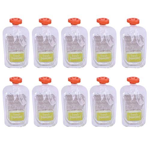 Vosarea 10 piezas Bolsas de almacenamiento para bebés reutilizables bolsas de alimentos exprimibles...