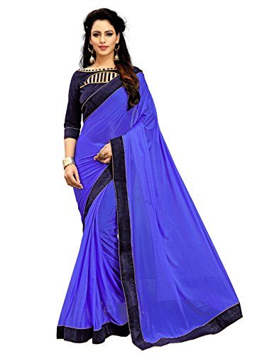 TexStile women's Lycra Blue color saree for party wear and latest design...