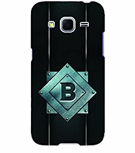 YuBingo Samsung Galaxy Core Prime :: Samsung Galaxy Core Prime G360 :: Samsung Galaxy Core Prime Value Edition G361 :: Samsung Galaxy Win 2 Duos Tv G360Bt :: Samsung Galaxy Core Prime Duos Designer Phone Back Case Cover ( Bold Letter B (Metal Finish Plastic) )