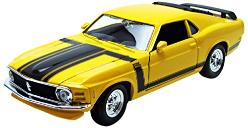 modellino-ford-mustang-boss-302-1970-giallo-nero-scala-124-model-31943