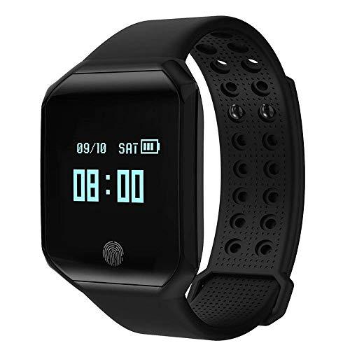 Armband-Eignungs-Verfolger IP67 Wasserdicht mit Schrittzähler-Herzfrequenz-Monitor Für Android Smartphone 96 × 64 OLED-Anzeige ()