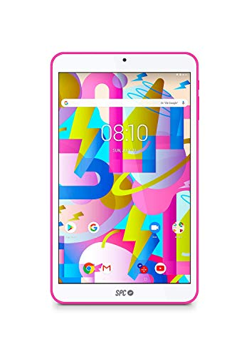 SPC Lightyear - Tablet android con pantalla IPS de 8 pulgadas, memoria interna 16GB, RAM 2GB, WiFi y Bluetooth - Color Rosa