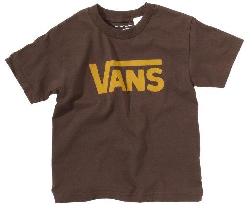 Vans - B VANS CLASSIC BOYS WHITE/BLACK - T-shirt - Garçon Marron foncé