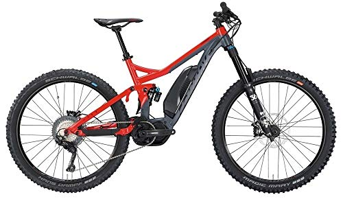 ConWay eWME 627 Herren E-Bike 500Wh Fully E-Mountainbike Elektrofahrrad red/Grey matt 2019 RH 50 cm / 27,5 Zoll