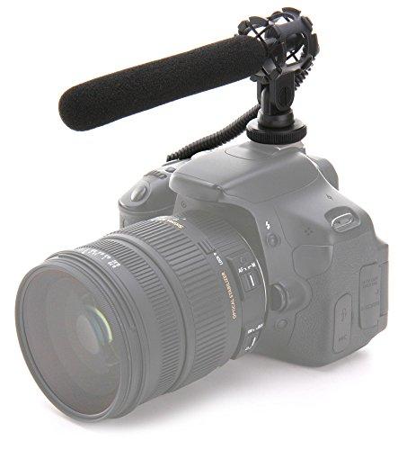 Pronomic SCM-500 Kondensator Richtmikrofon für Kamera und Smartphone (Shotgun Mikrofon, kabelgebunden, batteriebetrieben, inkl. Kamera-Kabel, Adapter, Batterie, Halter, Windschutz, Etui) schwarz