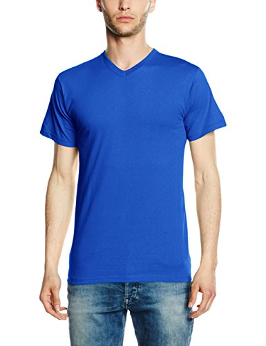fruit-of-the-loom-v-neck-brights-t-shirt-homme-bleu-bleu-roi-xxl