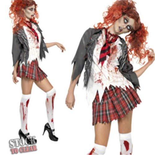 Halloween Bloody Kostüm Mary - J-COSTUME Halloween Kostüm Cosplay Adult Horror Bloody Mary Maskerade Show Kleidung M