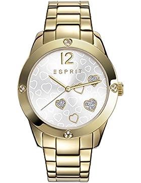 Esprit Damen Armbanduhr Datum klassisch Quarz Edelstahl ES108872002