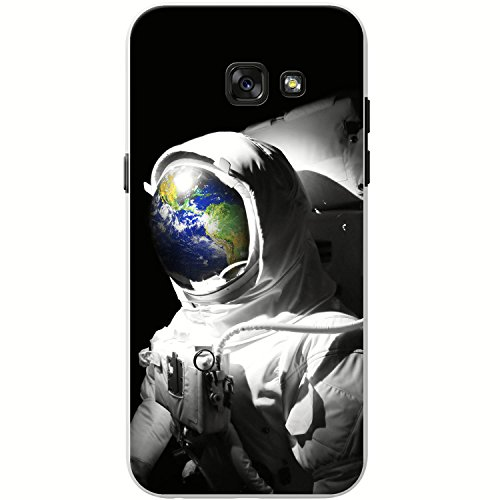 Astronautenanzug & Spiegelbild der Erde Hartschalenhülle Telefonhülle zum Aufstecken für Samsung Galaxy A5 (2017)