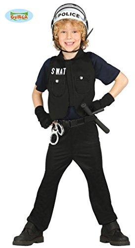 S.W.A.T. Polizist - Kostüm für Kinder Gr. 98 - 146, (A Team T Kind Kostüme W S)