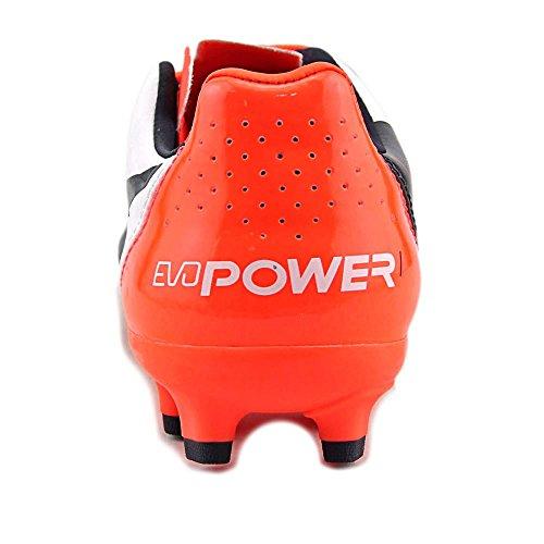 Puma evoPwer 1.2 FG Jr Football Cleats Synthetik Klampen Wht-Total Eclipse-Lava Blast
