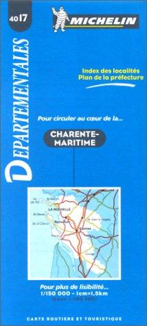 Carte routière : Charente-Maritime, 4017, 1/150000
