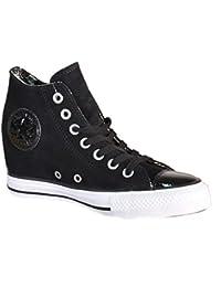 Converse 549558C All Star CT Lux Mid Black Chaussures de Sport en Cuir Noir 2371c3ac178e
