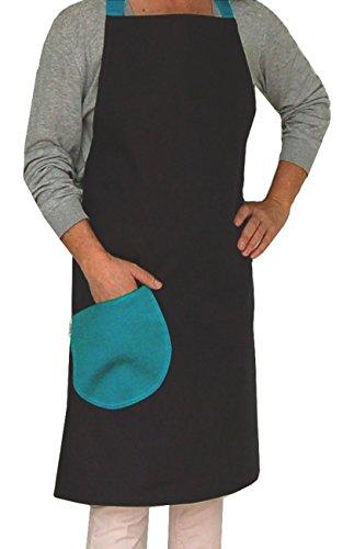 beties Farbenspiel Schulschürze zum Werken, Basteln & Kochen aus 100% Baumwolle in vielen Farben für mehr Spaß am Lernen (schiefer)