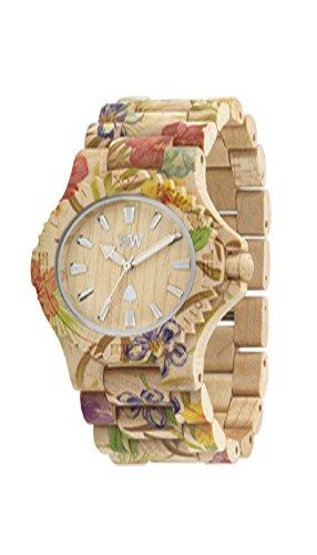 Orologio unisex in legno Wewood DATE FLOWER BEIGE