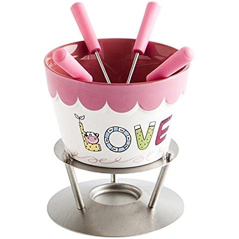 Quid Love Choc-Set per fonduta di cioccolato, 4 tazze