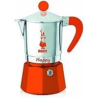Bialetti - 8042 - Happy - Cafetière Italienne en Aluminium - 3 Tasses - Orange