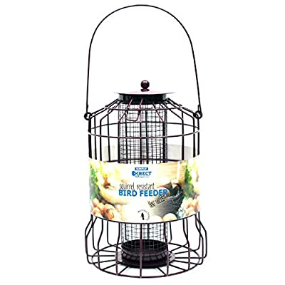 Simply Direct Squirrel Guard Hanging Nut Peanut Feeder for Wild Garden Birds - Multi Deals Available by simply direct