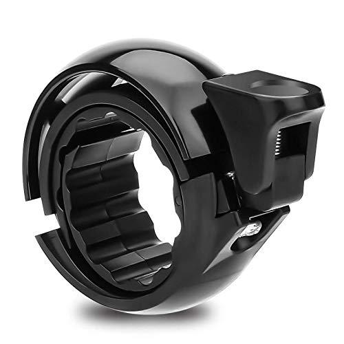 Chengtao Fahrradglocke Laut, Mini Fahrradklingel Q Design Aluminiumlegierung Innovative Fahrradglocke Mountainbike Fahrrad Klingel mit Klaren Sound, für 22.2-31.8mm Lenker (Schwarz)