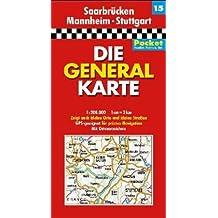 Die Generalkarten Deutschland Pocket, 20 Bl., Bl.15, Saarbrücken, Mannheim, Stuttgart
