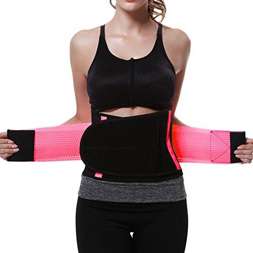 FeelinGirl Damen Waist Cinchr Traning Sport Belt Fitness Slimming Girdle Gurte S Rosa
