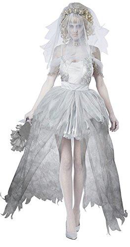 DLucc Halloween-Kostüm Gespenst Braut Kleidung trocken Zombie- Rollenspiel Vampirkönigin Kostüm