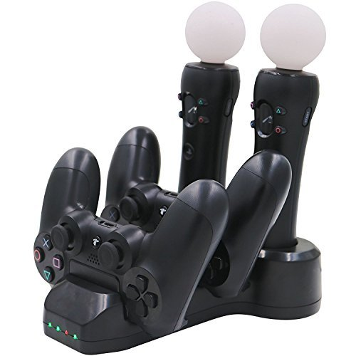 Aresh PSVR Move Controller / PS4 Controller Ladestation + LED Ladegerät Ladeständer für PlayStation VR PlayStation 4 Controller