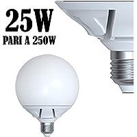 LAMPADA LED 25W E27 2130 Lumen Bianco CALDO 3000°K SFERA OPACA GLOBO