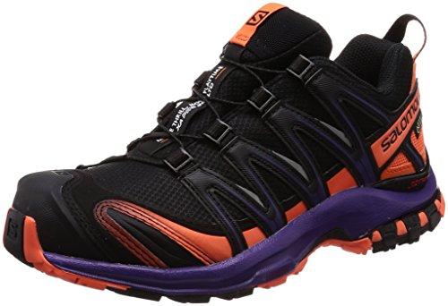 Salomon XA PRO 3D GTX Ltd W, Scarpe da Trail Running Donna, Nero (Black/Nasturtium/Parachute Purple 000), 39 1/3 EU