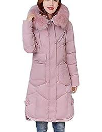 Doudoune Manteau Femme Hiver Longues Parka Manches Longues avec Cordon De  Serrage Chaud Poches Avant avec Fermeture Éclair Veste… a4f426e1f4f