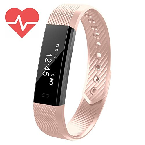 simonetti-eu Fitness Bracelet Trackers, FitX Heart Rate Monitor Water resistant Activity Tracker with Pedometer and Sleep Monitor Calorie Counter, Slim Smart Band Bracelet for Kids Women Men