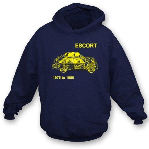 TshirtGrill Ford Escort Hooded Sweatshirt XXL, Farbe marineblau Preisvergleich