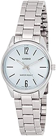 Casio Women's Off-White Dial Stainless Steel Analog Watch - LTP-V005D-2