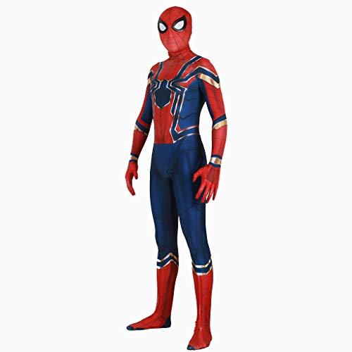 Spiderman Zweite Haut Kostüm - Yanbeng Superheld Spiderman Kostüme Unisex Erwachsene Kinder Lycra Spandex Zentai Spinne Vers Miles Morales Overall Body Halloween Cosplay Kostüme,Children,S