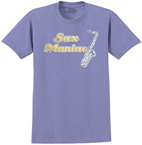 Saxophone Sax Tenor Maniac - Violett T Shirt Größe 86cm 34in Lge 12-13 Jahr MusicaliTee (Saxophon Kinder Für Yamaha)