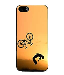 FUSON Designer Back Case Cover for Apple iPhone 5S (Bike Stunner Speed Motor cycles Racing Cars)