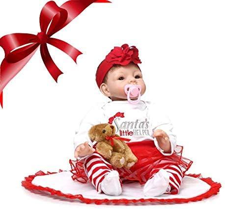 Wood.L Bois. L réaliste Reborn Reborn Reborn Poupée en Vinyle Souple en Silicone réaliste pour Nouveau-né Petite Fille de Noël pour Fille ou garçon   et bébé, pour  s B07K1NKDLX e3acbd