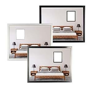Bilderrahmen BONANZA in Weiß mit Acrylglas klar Größenwahl Foto Poster Rahmen