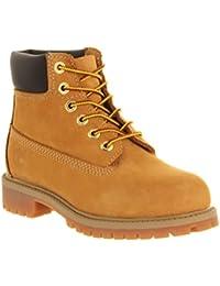 Timberland 12709juventud 6inch Premium impermeable botas de cuero, color beige, talla 30 EU