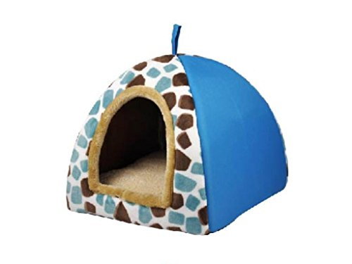 couleur-raye-toile-yourtes-chenil-confortable-chat-nid-nid-petit-maison-blue-s
