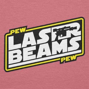Texlab–Pew Pew Laser Beams–sacchetto di stoffa Pink