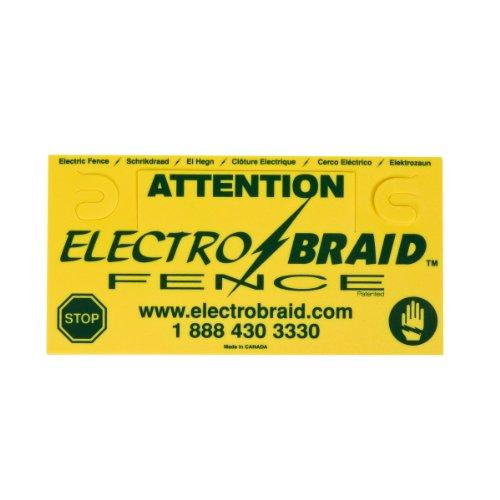 ElectroBraid Zaun-Warnschild, gelb/schwarz