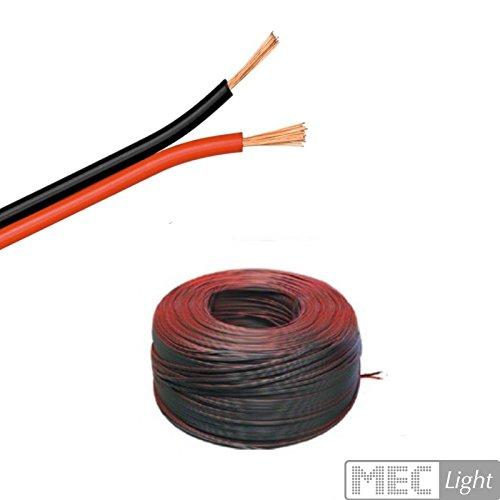 (0,50€/m)5m LED Kabel Zwillingslitze 2x 0,50mm² schwarz/rot 2-adrig