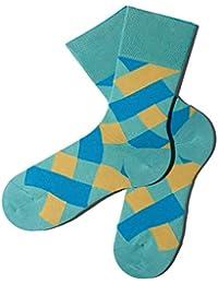 Bunte Socken - Karomuster - Parasailing - GOTS zertifiziert - aus feinster Bio Baumwolle - Komfortbündchen