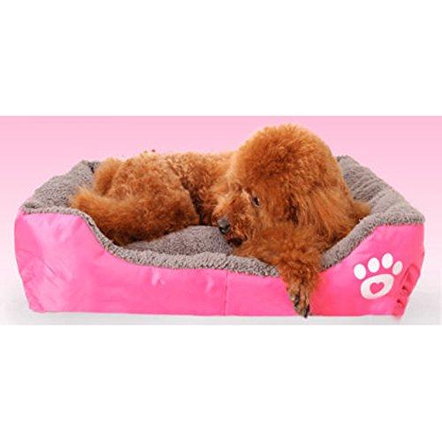 Tping Waschbar Tierbett Hundebett Katzenbett mit Kuscheleinlage für Hunde Welpen Katze Haustier (Mittel, Rose) - 3