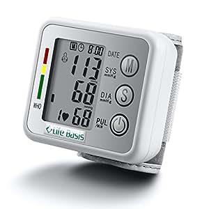 LifeBasis Sfigmomanometro da Polso misuratore di pressione arteriosa - Argento