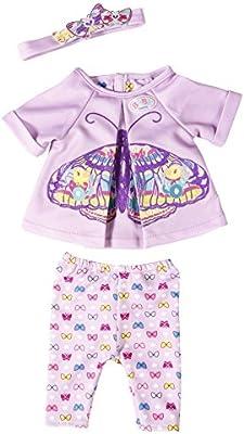 BABY born Butterfly Set Juego de ropita para muñeca - accesorios para muñecas (Juego de ropita para muñeca, 3 año(s), Lila, Violeta, Chica, 3 pieza(s), 43 cm)